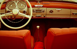Interior vintage car Royalty Free Stock Images