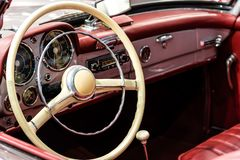 Interior Of Vintage Car royalty free stock photography