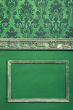 Interior on vintage room in worm green colors Stock Photo