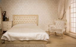 Interior of a vintage style bedroom Stock Photos