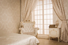 Interior of a vintage style bedroom Stock Photo