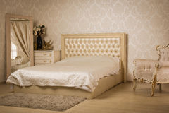 Interior of a vintage style bedroom Royalty Free Stock Photography