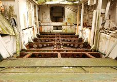 Interior of a Vintage World War Two Landing Craft Stock Image
