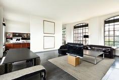 Interior, vista de la sala de estar Fotos de archivo
