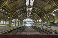 The interior of the Vitebskiy vokzal railway station in St. Pete Stock Image