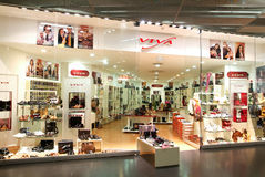 Interior of Viva fashion shoes store Stock Photography