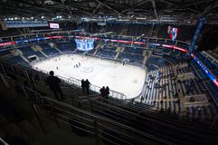 Interior of VTB ice arena Royalty Free Stock Images