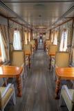 Interior of a wagon of a touristic train. Interior of a wagon of a luxurious touristic train, stationed in Latacunga, Ecuador Stock Photos