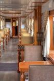 Interior of a wagon of a touristic train. Interior of a wagon of a luxurious touristic train, stationed in Latacunga, Ecuador Stock Photography