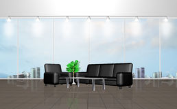 Interior of a waiting room Stock Photo