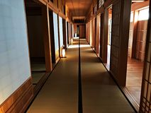 Interior walk way of Hokkaido Government office Left wing. Left wing interior walkway of old Hokkaido Government office which show beautiful architecture of Royalty Free Stock Photos