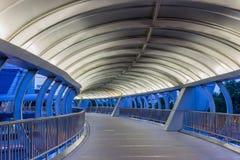 Interior of walkway bridge. At morning Royalty Free Stock Images