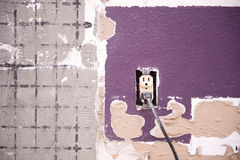 Interior Wall And Outlet Royalty Free Stock Images