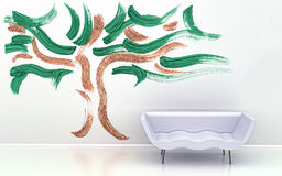 Interior wall design. Royalty Free Stock Photography