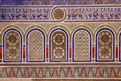 Wall detail. Dar Si Said palace. Marrakesh. Morocco Stock Photography
