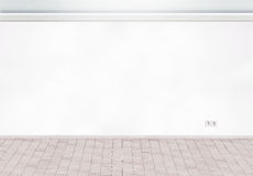 Interior wall with domestic power outlet Royalty Free Stock Image