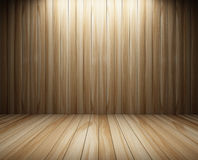 Interior of wall wood decorated Stock Photography