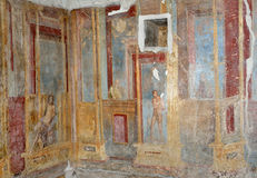 Interior walls of the ancient Roman villa Royalty Free Stock Photos