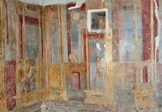 Interior walls of the ancient Roman villa Royalty Free Stock Photos
