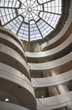 Interior Walls & Ceiling of Guggenheim Museum in New York Royalty Free Stock Photography