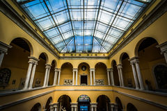 Interior of the Walter's Art Museum, in Mount Vernon, Baltimore, Royalty Free Stock Photography