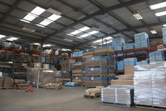 Interior Of Warehouse Space Stock Images