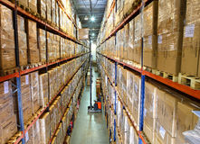 Interior warehouse Stock Images