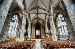 Interior of Warwick Cathedral. Interior looking east, Collegiate Church of St Mary, Warwick Royalty Free Stock Image