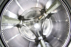 Interior of washing machine as abstract background Stock Photo