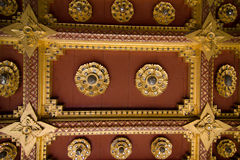 Interior of Wat Benchamabophit (Marble temple). Wat Benchamabophit Dusit Wanaram,วัดเบญจมบพิตรดุสิตวนาราม, is a Royalty Free Stock Image