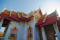 Interior of Wat Benchamabophit (Marble temple) Royalty Free Stock Photos