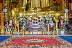 Interior of Wat Chet Yod  temple Royalty Free Stock Photo