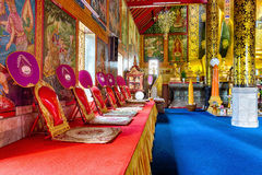 Interior of Wat Chet Yod  temple Royalty Free Stock Photography