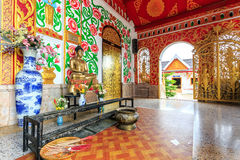 Interior of Wat Chet Yod  temple Royalty Free Stock Images