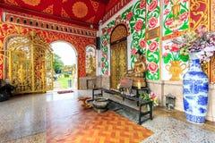 Interior of Wat Chet Yod  temple Stock Photo