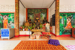 Interior of Wat Chet Yod  temple Royalty Free Stock Image
