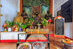 Interior of Wat Chet Yod  temple Stock Photos