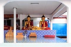 Interior of Wat Khrua Khrae temple in Chiang Rai at sunny day Royalty Free Stock Photography