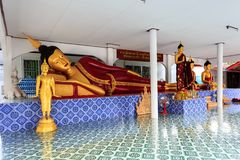Interior of Wat Khrua Khrae temple in Chiang Rai at sunny day Stock Photography