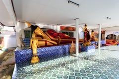 Interior of Wat Khrua Khrae temple in Chiang Rai at sunny day Royalty Free Stock Image