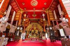 Interior Wat Klang Wiang temple, ChiangRai, Thailand Royalty Free Stock Image