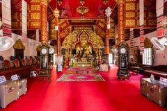 Interior Wat Klang Wiang temple, ChiangRai, Thailand Royalty Free Stock Photo