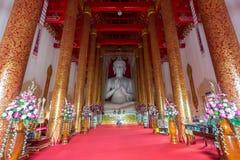 Interior of Wat Mangkol Thawararam (Wat Khrua Khrae), horizontal Royalty Free Stock Photography