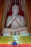 Interior of Wat Mangkol Thawararam (Wat Khrua Khrae), vertical Royalty Free Stock Photo