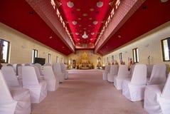 Interior of Wat Mongkolrata Buddhist Thai Temple Royalty Free Stock Photos