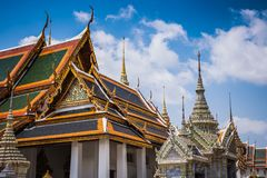 Interior of the Wat Phra Kaew Palace, also known as the Emerald Buddha Temple. Bangkok, Thailand. stock image
