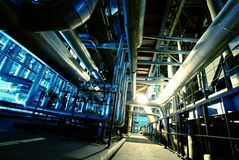 Interior of water treatment plant stock photos