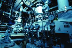 Interior of water treatment plant Stock Images