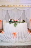 Interior of a wedding banquet Royalty Free Stock Photography