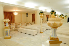 Interior of wedding chapel. Interior details of luxurious wedding chapel Stock Photography